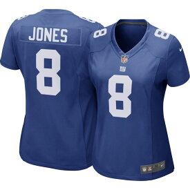 ナイキ Nike レディース トップス 【New York Giants Daniel Jones #8 Color Rush Blue Game Jersey】
