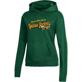 アンダーアーマー Under Armour レディース パーカー トップス【Black Hills State Yellow Jackets Green All Day Pullover Hoodie】