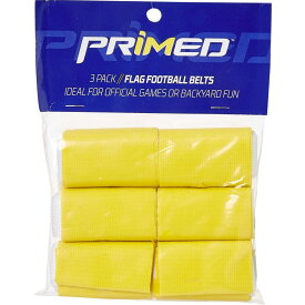 プライムド PRIMED ユニセックス アメリカンフットボール 3点セット【Primed Flag Football Belts - 3 Pack】Yellow