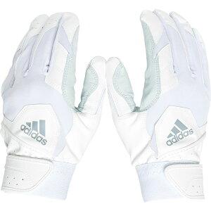 アディダス adidas ユニセックス 野球 バッティンググローブ グローブ【Adult Trilogy Series Batting Gloves】White