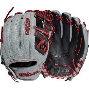 ウィルソン Wilson ユニセックス 野球 グローブ【11.5'' A2000 Pedroia Fit Series DP15 Glove 2021】Grey/Black/Red