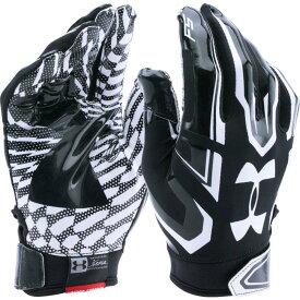 アンダーアーマー Under Armour メンズ アメリカンフットボール レシーバーグローブ グローブ【Adult F5 Receiver Gloves】Black/White