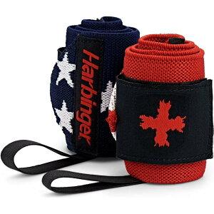 ハービンジャー Harbinger ユニセックス フィットネス・トレーニング サポーター【Red Line Wrist Wraps】Flag