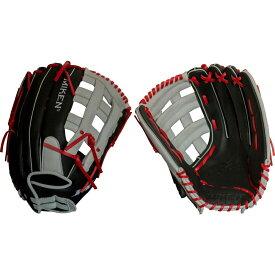 ミケンコンポジット Miken Composites ユニセックス 野球 グローブ【Miken 15'' Player Series Slow Pitch Glove】Black/White/Red
