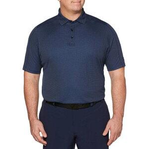 キャロウェイ Callaway メンズ ゴルフ 大きいサイズ ポロシャツ トップス【Refined Jacquard Golf Polo - Big & Tall】Medieval Blue