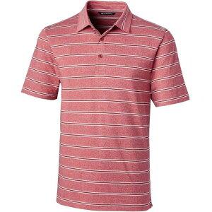 カッター&バック Cutter & Buck メンズ ゴルフ ポロシャツ トップス【Forge Heather Stripe Golf Polo】Cardinal Red