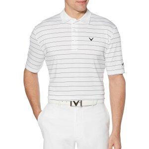 キャロウェイ Callaway メンズ ゴルフ 大きいサイズ ポロシャツ トップス【Ventilated Stripe Golf Polo - Big & Tall】Bright White
