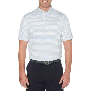 キャロウェイ Callaway メンズ ゴルフ 大きいサイズ ポロシャツ トップス【3-Color Striped Golf Polo - Big & Tall】Bright White