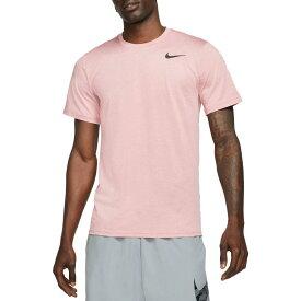 ナイキ Nike メンズ ラクロス ドライフィット トップス【Dri-FIT Utility Static Training Tee】Rust Pink