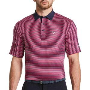 キャロウェイ Callaway メンズ ゴルフ 大きいサイズ ポロシャツ トップス【3-Color Striped Golf Polo - Big & Tall】Boudoir Red