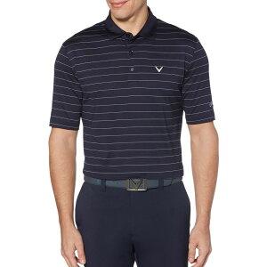 キャロウェイ Callaway メンズ ゴルフ 大きいサイズ ポロシャツ トップス【Ventilated Stripe Golf Polo - Big & Tall】Peacoat