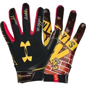 アンダーアーマー Under Armour ユニセックス アメリカンフットボール レシーバーグローブ グローブ【Adult F7 Novelty Football Receiver Gloves 2020】Black/Black/Metsilv