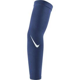 ナイキ Nike ユニセックス アメリカンフットボール ドライフィット サポーター【Pro Adult Dri-FIT 4.0 Arm Sleeves】Midnight Navy/White