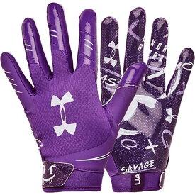 アンダーアーマー Under Armour ユニセックス アメリカンフットボール レシーバーグローブ グローブ【Adult F7 Novelty Football Receiver Gloves 2020】Purple/Purple