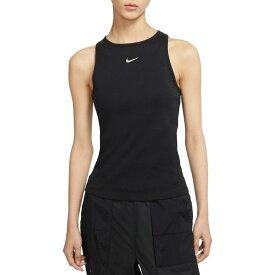 ナイキ Nike レディース ラクロス タンクトップ トップス【Sportswear Essential Ribbed Tank Top】Black