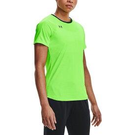 アンダーアーマー Under Armour レディース サッカー Tシャツ トップス【Challenger Training T-Shirt】Hyper Green/Forest Green