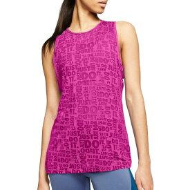 ナイキ Nike レディース ラクロス タンクトップ トップス【Just Do It Burnout Tank Top】Fire Pink