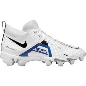 ナイキ Nike メンズ アメリカンフットボール スパイク シューズ・靴【Alpha Menace 3 Shark Mid Football Cleats】White/Royal