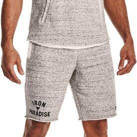 アンダーアーマー Under Armour メンズ ラクロス ショートパンツ ボトムス・パンツ【Project Rock Terry Iron Shorts】Onyx White/Black