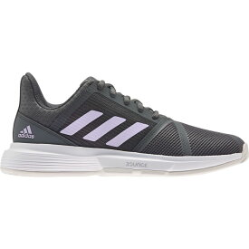 アディダス adidas レディース テニス シューズ・靴【CourtJam Bounce Tennis Shoes】Black/Purple