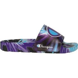 チャンピオン Champion レディース サンダル・ミュール シューズ・靴【IPO Tie Dye Slides】Black/Purple