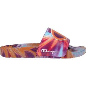 チャンピオン Champion レディース サンダル・ミュール シューズ・靴【IPO Tie Dye Slides】Orange/Purple