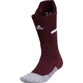 アディダス adidas メンズ ラクロス 【adizero Football Crew Socks】Team Maroon/White