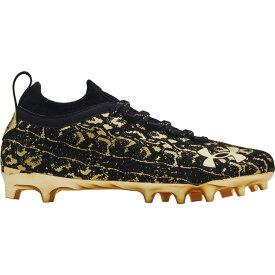 アンダーアーマー Under Armour メンズ アメリカンフットボール スパイク シューズ・靴【Spotlight Lux Suede 2.0 Football Cleats】Black/Gold