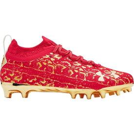 アンダーアーマー Under Armour メンズ アメリカンフットボール スパイク シューズ・靴【Spotlight Lux Suede 2.0 Football Cleats】Red/Gold