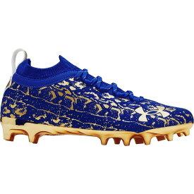 アンダーアーマー Under Armour メンズ アメリカンフットボール スパイク シューズ・靴【Spotlight Lux Suede 2.0 Football Cleats】Royal/Gold