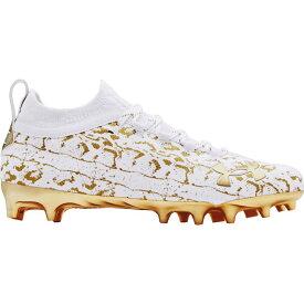 アンダーアーマー Under Armour メンズ アメリカンフットボール スパイク シューズ・靴【Spotlight Lux Suede 2.0 Football Cleats】White/Gold