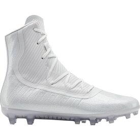 アンダーアーマー Under Armour メンズ アメリカンフットボール スパイク シューズ・靴【Highlight MC Football Cleats】White/White
