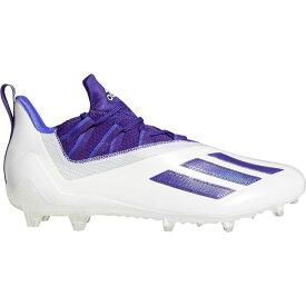 アディダス adidas メンズ アメリカンフットボール スパイク シューズ・靴【adizero 11.0 Football Cleats】White/Purple
