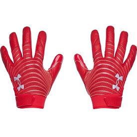 アンダーアーマー Under Armour メンズ アメリカンフットボール グローブ【Blur Football Gloves】Red/Metallic Silver