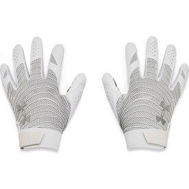 アンダーアーマー Under Armour メンズ アメリカンフットボール グローブ【Blur Football Gloves】White/Metallic Silver