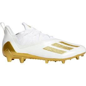 アディダス adidas メンズ アメリカンフットボール スパイク シューズ・靴【adizero 11.0 Football Cleats】White/Gold