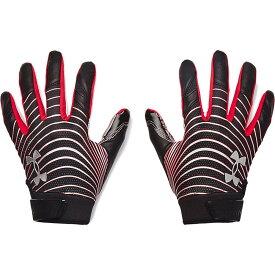 アンダーアーマー Under Armour ユニセックス アメリカンフットボール レシーバーグローブ グローブ【Adult Blur LE Receiver Gloves】Black/Metallic Silver