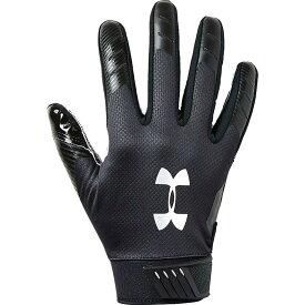アンダーアーマー Under Armour ユニセックス アメリカンフットボール グローブ【Spotlight ColdGear Football Gloves】Black/Silver