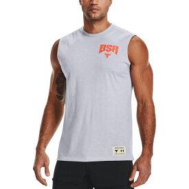 アンダーアーマー Under Armour メンズ ラクロス タンクトップ トップス【Project Rock Show Your BSR Sweat Activated Graphic Tank Top】Mod Gray Lh/Blaze Orange