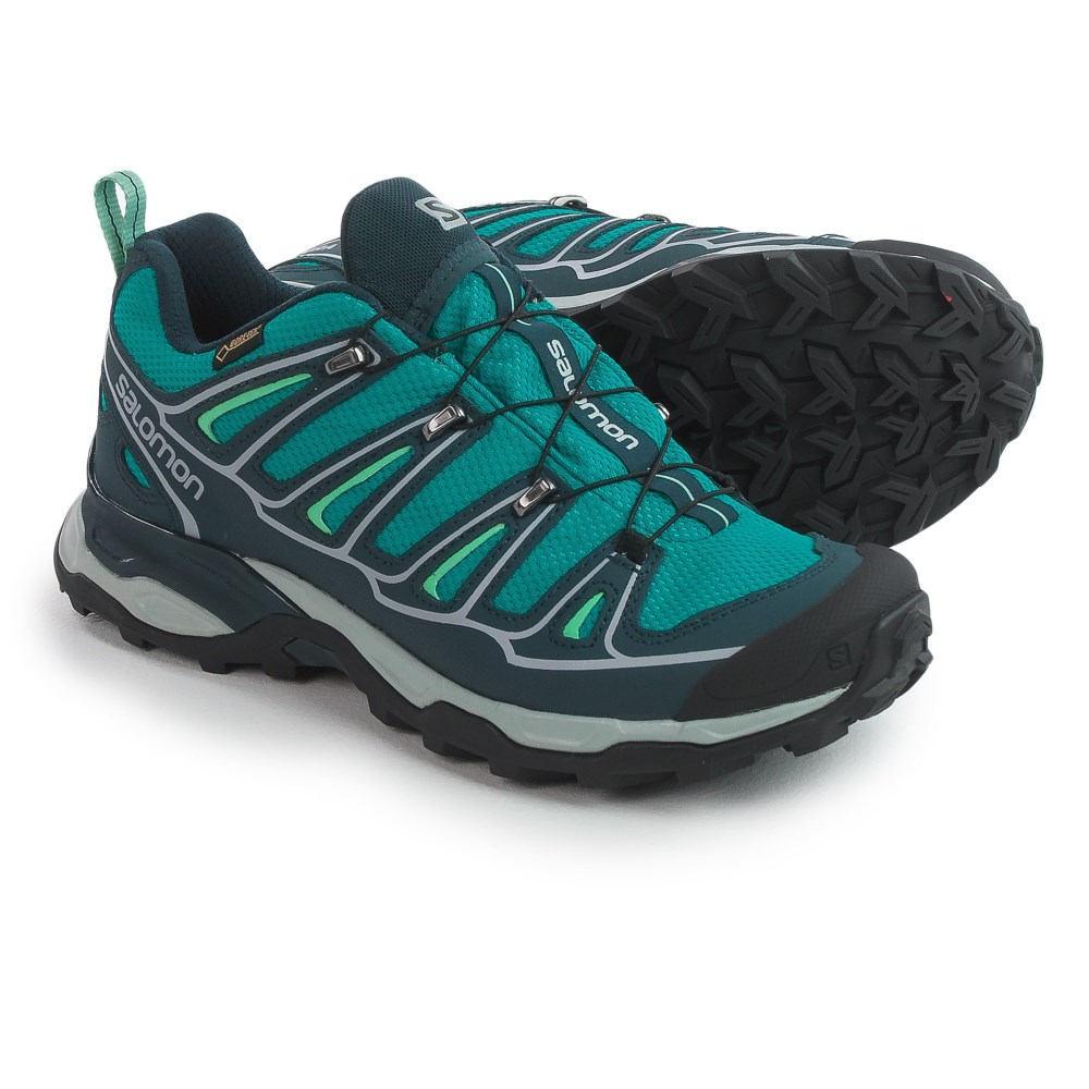 サロモン レディース ランニング・ウォーキング シューズ・靴【X Ultra 2 Gore-Tex XCR Trail Shoes - Waterproof】Peacock Blue/Deep Blue/Lucite Green