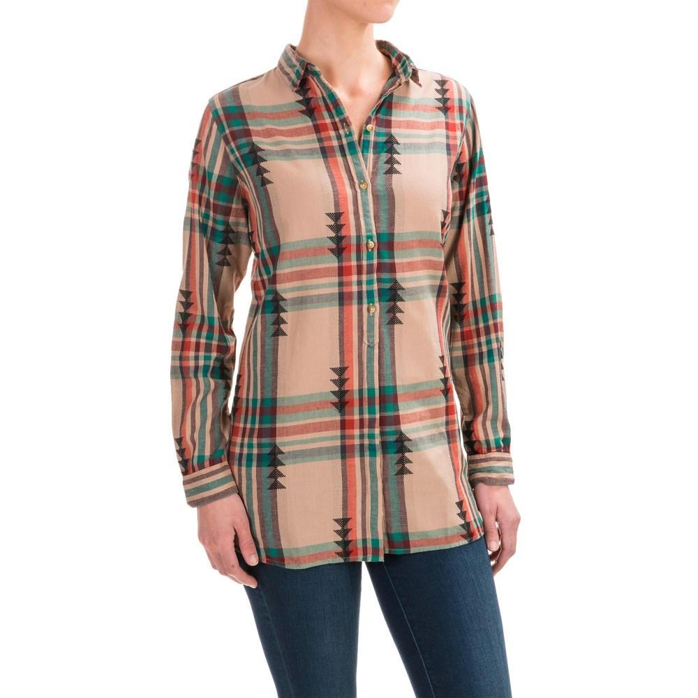 ウールリッチ レディース トップス ブラウス・シャツ【First Light Jacquard Shirt - Long Sleeve】Warm Taupe