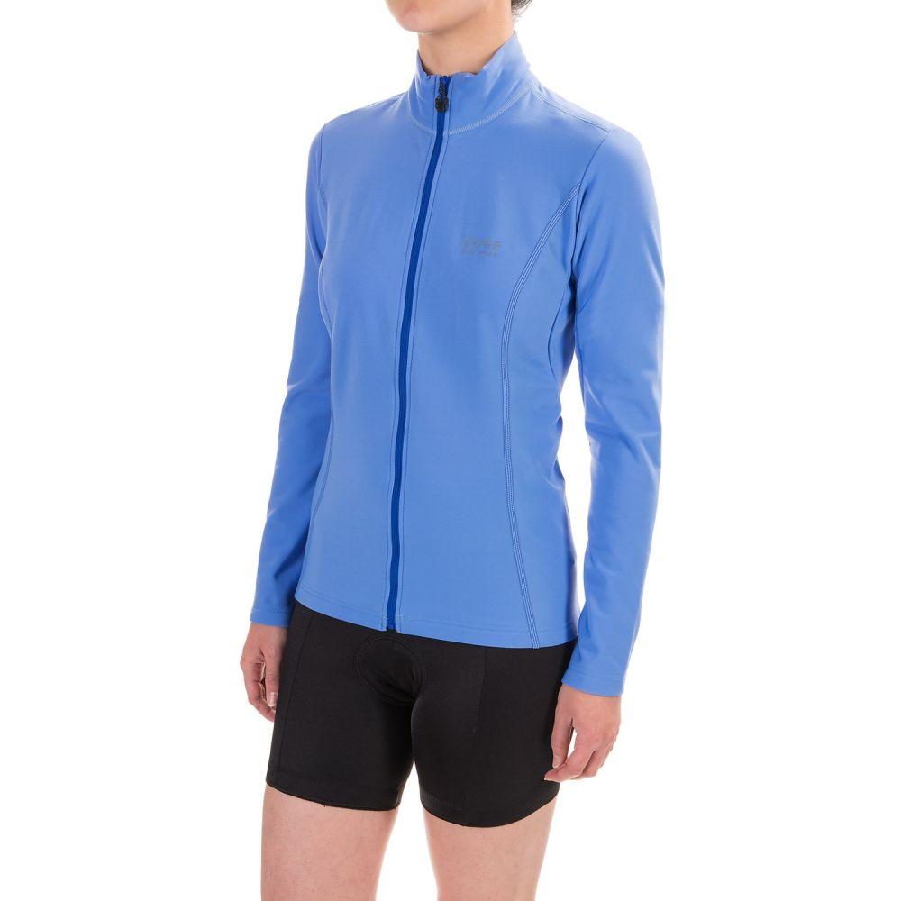 ゴアバイクウェア レディース 自転車 トップス【Element Thermo Cycling Jersey - Full Zip, Long Sleeve】Blizzard Blue/Brilliant Blue