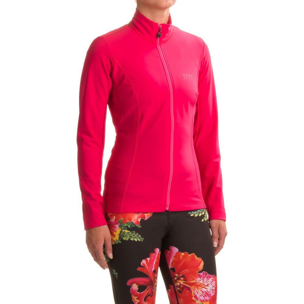 ゴアバイクウェア レディース 自転車 トップス【Element Thermo Cycling Jersey - Full Zip, Long Sleeve】Jazzy Pink/Magenta