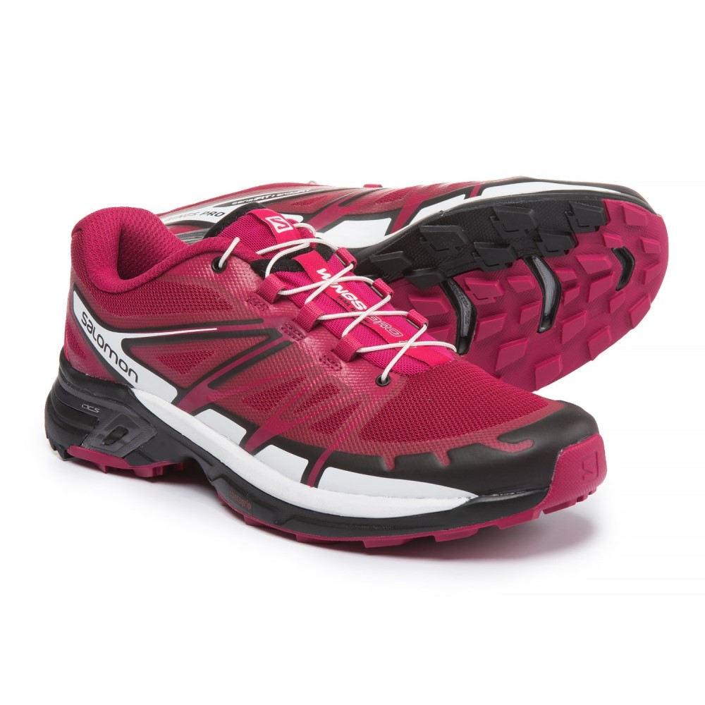 サロモン レディース ランニング・ウォーキング シューズ・靴【Wings Pro 2 Trail Running Shoes】Sangria/Black/White