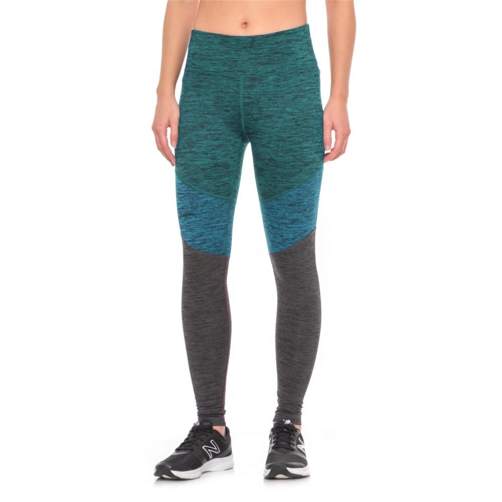 スポルディング レディース ランニング・ウォーキング ボトムス・パンツ【Color-Blocked Leggings】Teal Combo