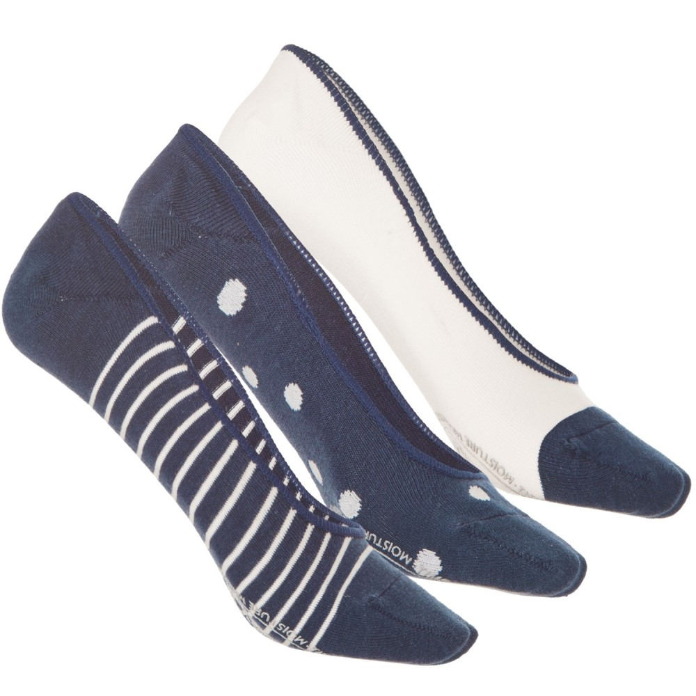 ティンバーランド レディース インナー・下着 ソックス【Boat Liner Socks - 3-Pack, Below the Ankle】Blue/White/Multi