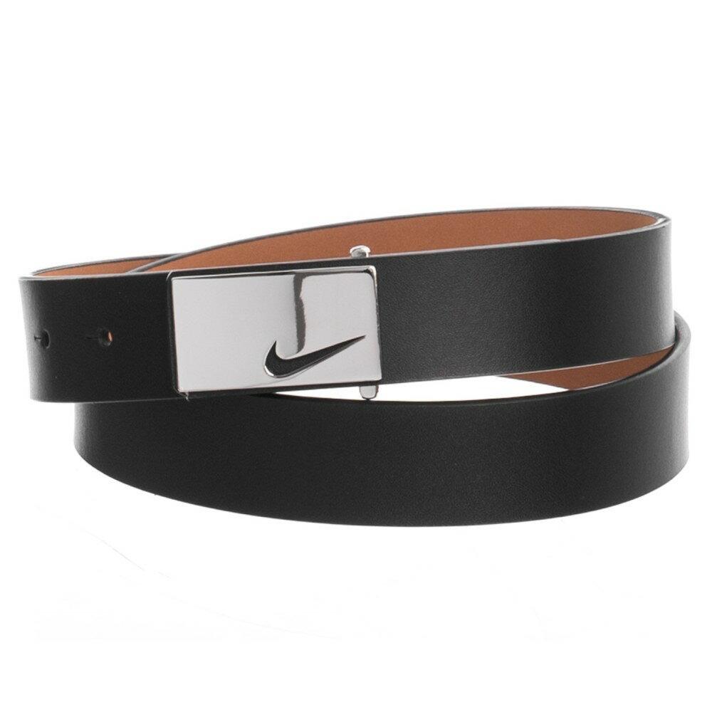 ナイキ レディース ベルト【Sleek Modern Logo Belt - Leather】Black