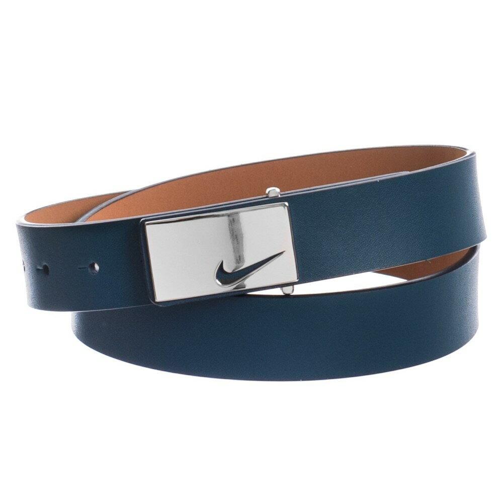 ナイキ レディース ベルト【Sleek Modern Logo Belt - Leather】Navy