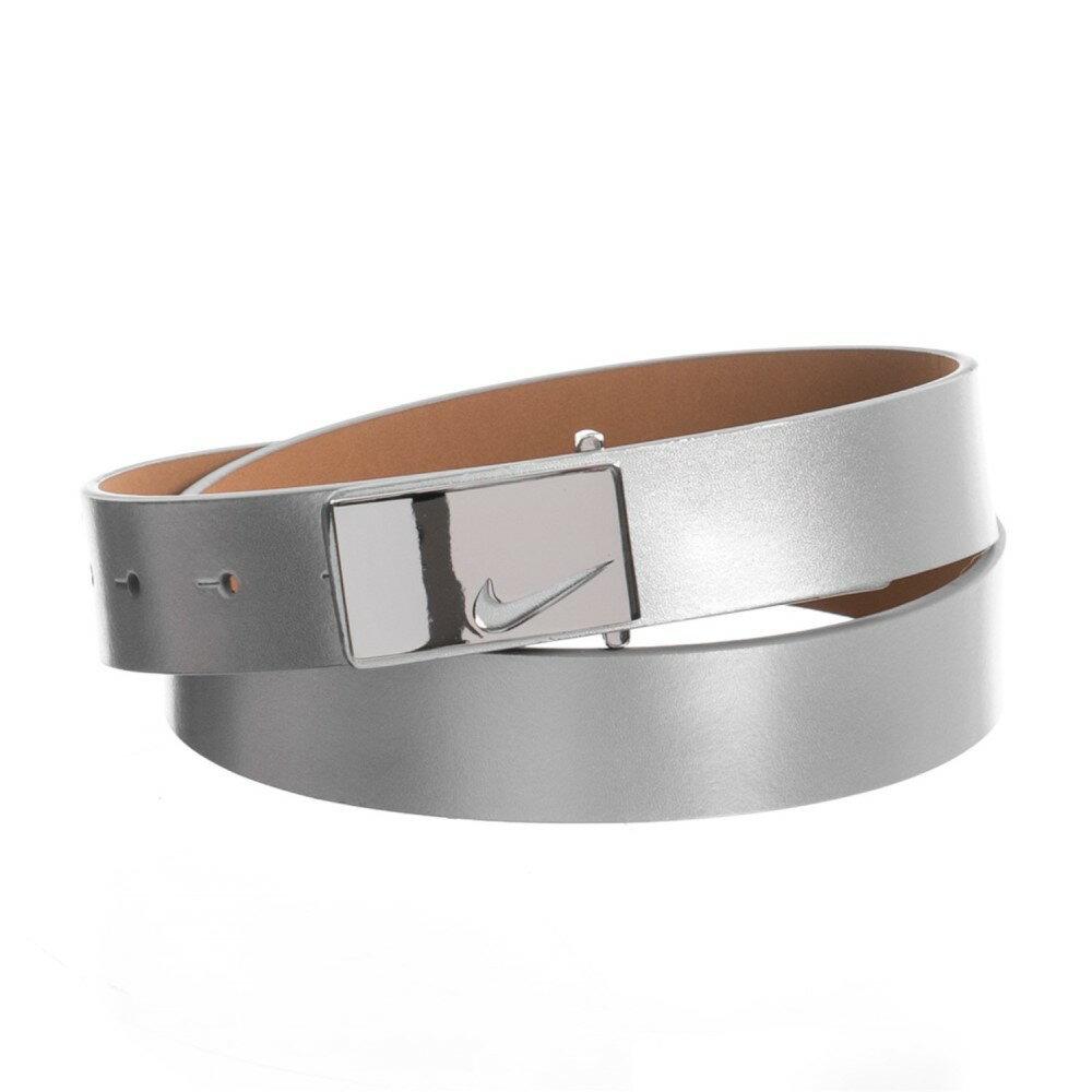 ナイキ レディース ベルト【Sleek Modern Logo Belt - Leather】Silver