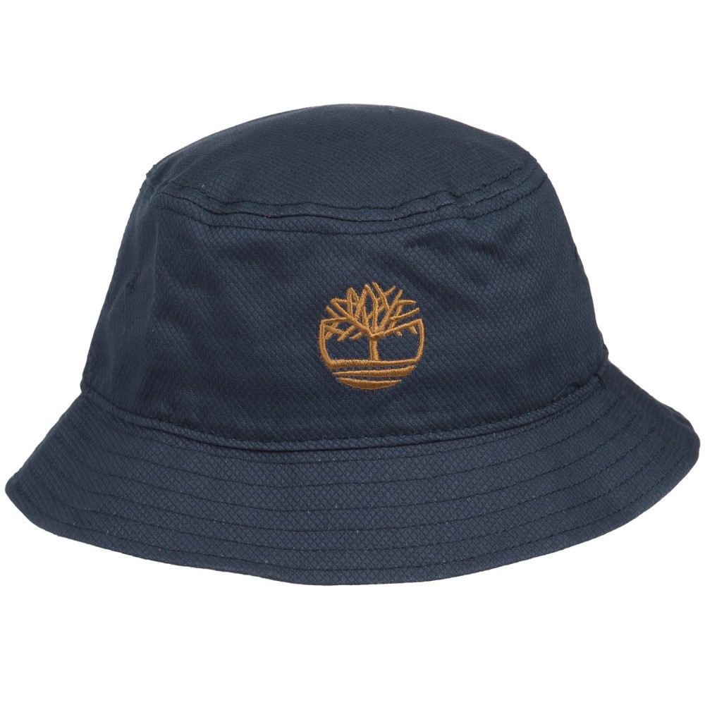 ティンバーランド メンズ 帽子 ハット【Bucket Hat with Tree Logo】Blue